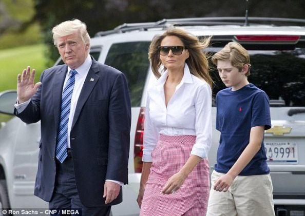 Trump, shown leaving Washington on Friday with first lady Melania and their son Barron, could be removed from office at the end of a long process – but only if he were unable to make or communicate his decisions to Congress and his cabinet