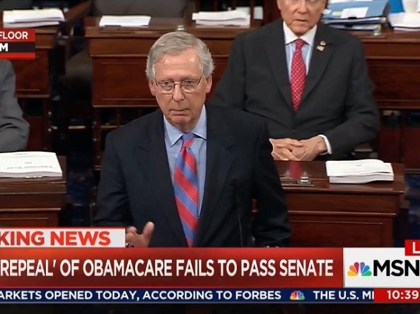 McConnell After Failure of Obamacare Repeal: 'It's Time to Move On'